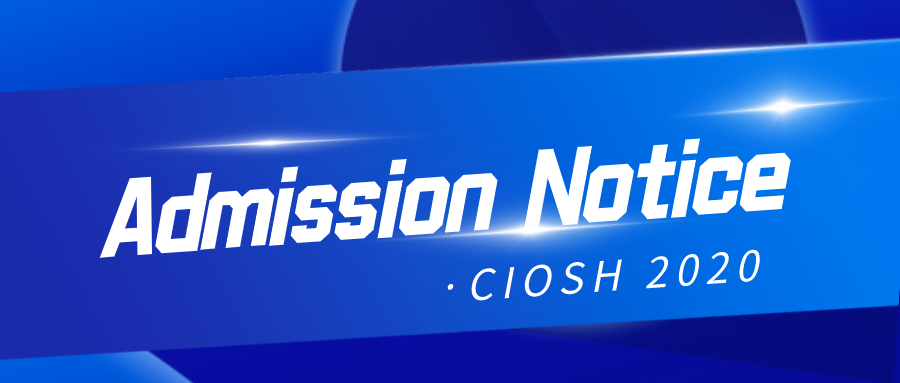 Admission Notice of CIOSH 2020